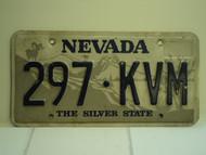 NEVADA Silver State License Plate 297 KVM