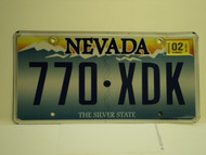 2002 NEVADA Silver State License Plate 770 XDK