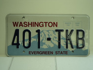 WASHINGTON Evergreen State License Plate 401 TKB