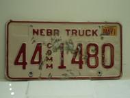 2002 NEBRASKA Commercial Truck License Plate 44 1480