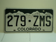 COLORADO License Plate 279 ZMS