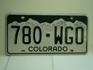 COLORADO License Plate 780 WGO