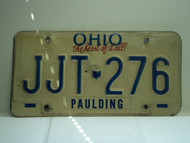 OHIO Heart of it all License Plate JJT 276