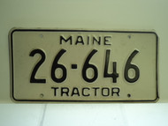 MAINE Tractor License Plate 26 646 1