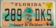 2007 Florida License Plate Invest in Children