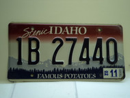 2002 IDAHO Famous Potatoes License Plate 1B 27440