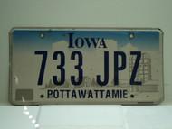IOWA License Plate 733 JPZ