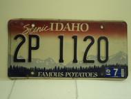 2001 IDAHO Famous Potatoes License Plate 2P 1120