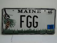 2013 MAINE Vacationland Vanity License Plate FGG