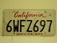 CALIFORNIA Lipstick License Plate 6WFZ697