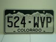 COLORADO License Plate 524 WVP