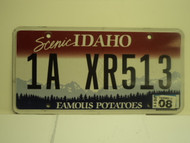 2011 IDAHO Scenic Famous Potatoes License Plate 1A XR513