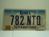2007 IOWA License Plate 782 NTQ