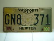 2000 MISSISSIPPI Magnolia License Plate GN8 371
