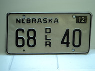 2004 NEBRASKA Dealer License Plate 68 DLR 40