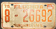 1979 Jun Volusia Co Florida 8-26692 License Plate