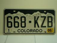 2006 COLORADO License Plate 668 KZB