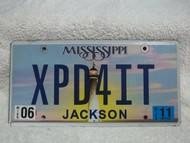 2011 Jun Mississippi Vanity XPD4IT License Plate