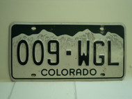 COLORADO License Plate 009 WGL