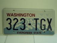 WASHINGTON Evergreen State License Plate 323 TGX