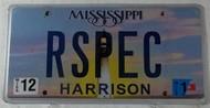 Dec Mississippi Vanity License Plate RSPEC
