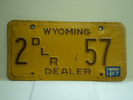 1987 Wyoming Dealer License Plate 2 57