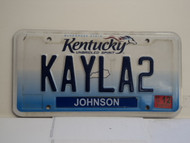 2013 KENTUCKY VANITY License Plate KAYLA 2