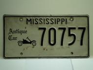 MISSISSIPPI Antique Car License Plate 70757