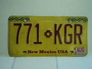1998 NEW MEXICO Land of Enchantment License Plate 771 KGR
