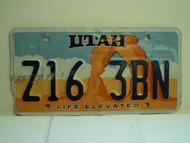UTAH Life Elevated License Plate 316 ZBN
