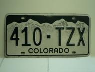 COLORADO License Plate 410 TZX