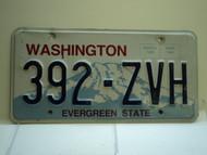 Washington Evergreen State License Plate 392 ZVH