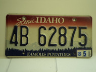 2005 IDAHO Famous Potatoes License Plate 4B 62875