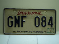 LOUISIANA Sportsmans Paradise License Plate GMF 084