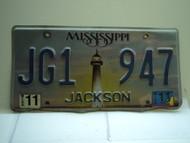 2011 MISSISSIPPI Lighthouse License Plate JG1 947