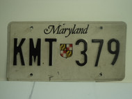 MARYLAND License Plate KMT 379