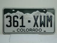 COLORADO License Plate 361 XWM