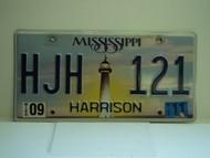 2011 MISSISSIPPI Lighthouse License Plate HJH 121