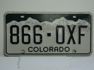 COLORADO License Plate 866 OXF