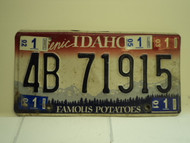 2001 through 2005  IDAHO Famous Potatoes License Plate 4B 71915