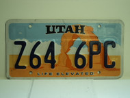 UTAH Life Elevated License Plate Z64 6PC