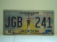 2011 MISSISSIPPI Lighthouse License Plate JGB 241