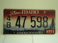 1997 IDAHO Famous Potatoes License Plate 4B 47 598