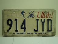 UTAH SKI Greatest Snow on Earth License Plate 914 JYD