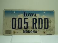 IOWA License Plate 005 RDD