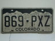 COLORADO License Plate 869 PXZ