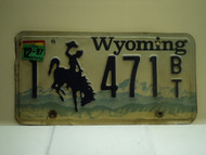1997 Wyoming License Plate 1 471 BT