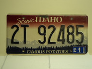 2004 IDAHO Famous Potatoes License Plate 2T 92485