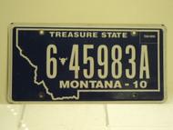 2010 MONTANA Treasure State License Plate 6 45983A