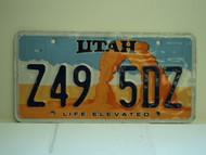 UTAH Life Elevated License Plate Z49 5DZ